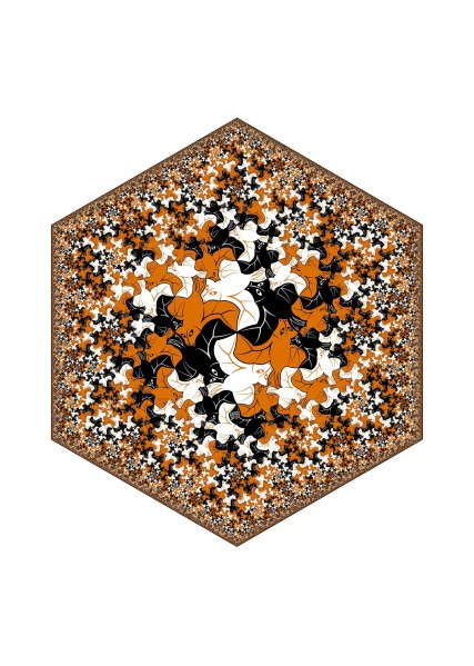 Hexagonal Limit - Bat Fractal