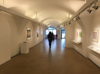 View of gallery with my pieces on the left
